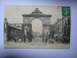 CPA Reims. La Porte De Paris - Reims