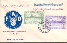 1958 Syria UAR Nutrition Festival F.D.C Complete Set 2 Values - Syrië