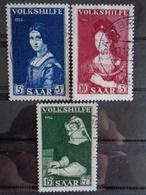SARRE 1956 Y&T N° 358 à 360 OB - AU PROFIT DES OEUVRES POPULAIRES - 1947-56 Gealieerde Bezetting