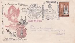SEMANA DE CORDOBA, DIA DE APERTURA. RARO SOBRE SPC CIRCULEE 1962 A ROSARIO. ARGENTINE  - BLEUP - Argentina