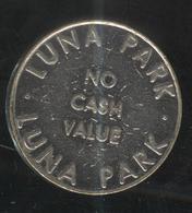 Jeton Luna Park - No Cash Value - 2 Faces Identiques - Professionnels/De Société