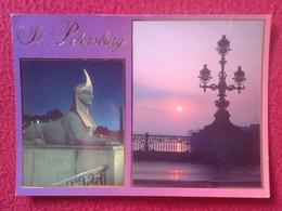 POSTAL POST CARD CARTE POSTALE RUSIA RUSSIA LA RUSSIE ST. SAINT PETERSBURG SAN PETERSBURGO WHITE NIGHT SPHINX SCULPTURE - Rusia