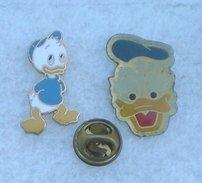 DISNEY RIRI FIFI OU LOULOU ? & ONCLE DONALD  2 PIN'S      BBBB     123 - Disney