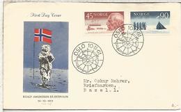 NORUEGA NORGE FDC CONQUISTA DEL POLO SUR POR AMUNDSEN SOUTH POLE ANTARTCTICA ANTARTIDA - Expediciones Antárticas