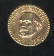 Jeton Total - Léon Gambetta 1838-1882 - Professionals / Firms