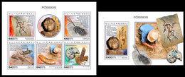 GUINEA BISSAU 2018 - Fossils. M/S + S/S. Official Issue - Préhistoriques