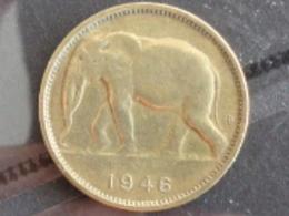 CONGO BELGE : 1 FRANC ELEPHANT 1946 - 1945-1951: Régence