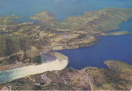 POSTCARD ROHDESIA - KARIBA DAM - CIRCULATED BY AIR MAIL  TO MOZAMBIQUE - MINERAL STAMP - Zimbabwe