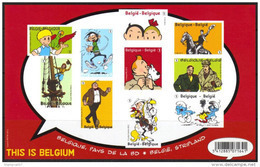 OCB Nr 4258/67 BL201 NON DENTELE (sansN°) ONGETAND (zonderNr) Strip Tintin Kuifje Schtroumpf Smurf Nero Blake & Mortimer - Belgique