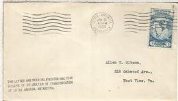 USA 1934 BYRD ANTARCTIC EXPEDITION LITTLE AMERICA POSTMAR WITH VERY RARE DATE 30 JAN 1934 INSTEAD USUAL 31 JAN - Expediciones Antárticas