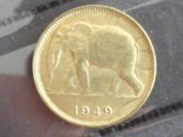 CONGO BELGE : 1 FRANC ELEPHANT 1949 - Congo (Belge) & Ruanda-Urundi