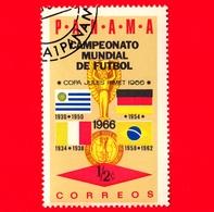 Nuovo - PANAMA - 1966 - Mondiali Di Calcio 1966, Inghilterra - Uruguay, Germania, Italia, Brasile - Bandiere - ½ - Panama