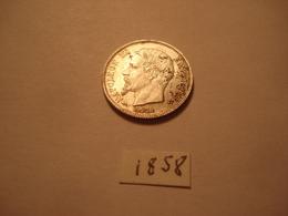 50 CENTIMES 1858 A NAPOLEON 3 TTB + - G. 50 Centimes