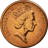 Monnaie, Fiji, Elizabeth II, Cent, 2001, SUP, Copper Plated Zinc, KM:49a - Fidji