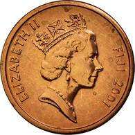 Monnaie, Fiji, Elizabeth II, Cent, 2001, SUP, Copper Plated Zinc, KM:49a - Figi