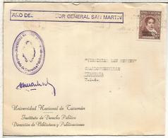 ARGENTINA CC CORREO OFICIAL UNIVERSIDAD NACIONAL DE TUCUMAN A USA 1950 - Argentina