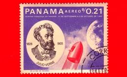 Nuovo - PANAMA - 1966 - Persone Famose - Giulio Verne - Razzo - 0.21 - P. Aerea - Panama