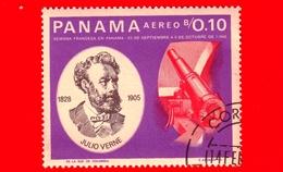 Nuovo - PANAMA - 1966 - Persone Famose - Giulio Verne - Telescopio - 0.10 - P. Aerea - Panama