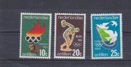 Nederlandse Antillen 1968 Mexico Olympic Games 3 Vals. MNH/** (H34) - Summer 1968: Mexico City