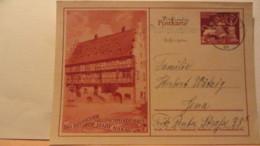 DR: GA  P 293 * Goldschmiedekunst Brautbecher Und Löwe Mit Bild Des Goldschmiedehauses Der Stadt Hanau A/M. Vom 27.10.42 - Deutschland