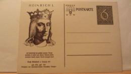 DR: GA  P 285 /01 * Heinrich I.  Winterhilfswerk 1939 Ungebraucht - Briefe U. Dokumente