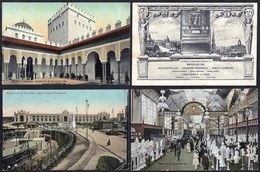 29 X OLD CARD WORLD FAIR BRUSSELS 1910 - EXPOSITION DE BRUXELLES 1910 - WERELDTENTOONSTELLING BRUSSEL - Expositions