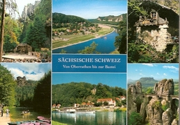 Germany & Circulated, Greetings From  Sächsische Schweiz Von Oberrathen Bis Zur Bastei, Fredersdorf 2009 (9966) - Souvenir De...