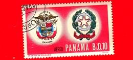 Nuovo - PANAMA - 1966 - Viaggi Nello Spazio - Contributo Italiano - Stemmi Di Panama E Italia - 0.010 - P. Aerea - Panama