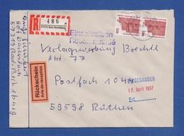 Bund R-Brief Einschreiben MeF Semperoper Dresden - BAD BERLEBURG - [7] Federal Republic