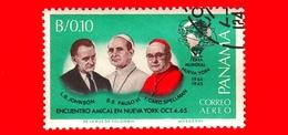 Nuovo - PANAMA - 1966 - Visita Di Papa Paolo VI All'ONU - L. B. Johnson, Pope Paul VI, Cardinale Spellman - 0.10 - Panama