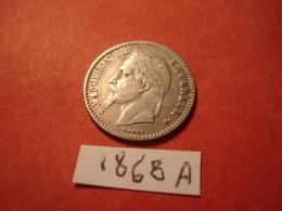 50 CENTIMES 1868 A NAPOLEON 3 TTB - G. 50 Centimes