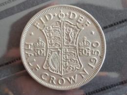UNC HALF CROWN 1950 - GEO VI - 1902-1971 : Monnaies Post-Victoriennes