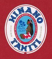 Polynésie Française / Tahiti - Ancienne étiquette De Bière Hinano / Blonde 500 Ml - Export - Superbe - Bière