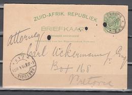 Zuid-Afrik.Republiek1898,half Penny On Used Postcard,lombard Generaal Agent(C363) - Timbres