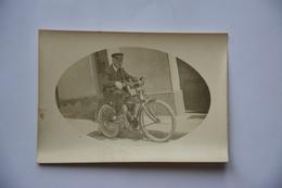 Photo 9 CmX 6cm-motard Sur Vieille Moto(motobecane???) - Photos