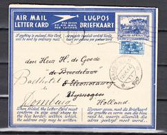 South Africa 1947,2V On Airmail Letter Card To Holland, Cancel Nijmegen(C364) - Brieven En Documenten