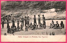 Argentine - Argentina - Indios Cainguas En Misiones - Indiens - Animée - Edit. R. ROSAUER - Argentina