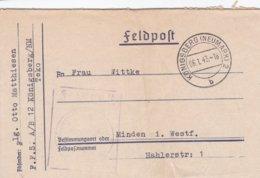 German Feldpost WW2: Flugzeugführerschule (A/B) 12 In Königsberg (Neumark) P/m Königsberg (Neumark) - Militaria