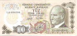 Turkey  P-189    100 Lirasi  1972  UNC - Turquie