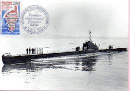 """Timbre Premier Jour - Le Sous Marin """"CASABIANCA"""" Qui Participa En Septembre 1943 - - Militaria"""