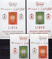 Malaria 1962 Libya 118/9+Blocks 2/3 ** 34€ Antimalaria-Mücke WHO Hojita Nature Ss Blocs Sheets Medical M/s Bf Fauna - Libya