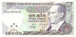 Turkey  P-199    10000 Lirasi  1988  UNC - Turquie
