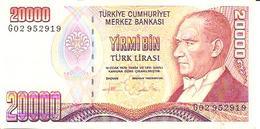 Turkey  P-202    20000 Lirasi  1988  UNC - Turquie