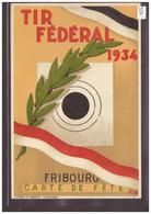 FORMAT 18x12 Cm - FRIBOURG - TIR FEDERAL 1934 - TB - FR Fribourg