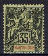 """Martinique, """"Groupe"""" 35c, 1899, MH VF - Martinique (1886-1947)"""