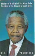 SOUTH AFRICA(chip) - Nelson Mandela, Telkom Telecard, CN : TCAB + 9 Digits(0 With Barred), Used - Sudafrica