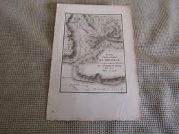 Carte Essai Sur Les Environs De Delphes Par J.D.Barbié Du Bocage 1787 - Carte Geographique