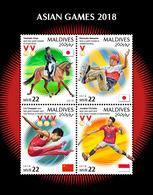 MALDIVES 2018 - Gymnastics, Asian Games. Official Issue - Gymnastiek