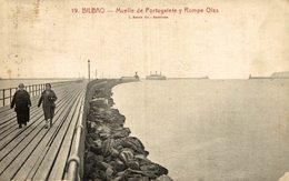 BILBAO. MUELLE DE PORTUGALETE Y ROMPEOLAS - Vizcaya (Bilbao)