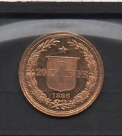 SUISSE  -  20 F  Or  -  1886 - Switzerland
